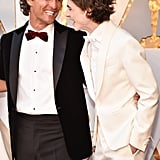 Timothee Chalamet With Matthew McConaughey at 2018 Oscars