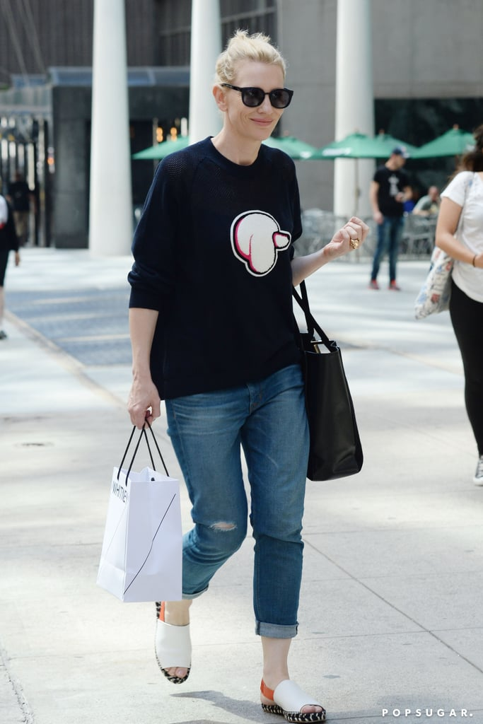 Cate Blanchett kept it casual as she shopped in NYC on Saturday.