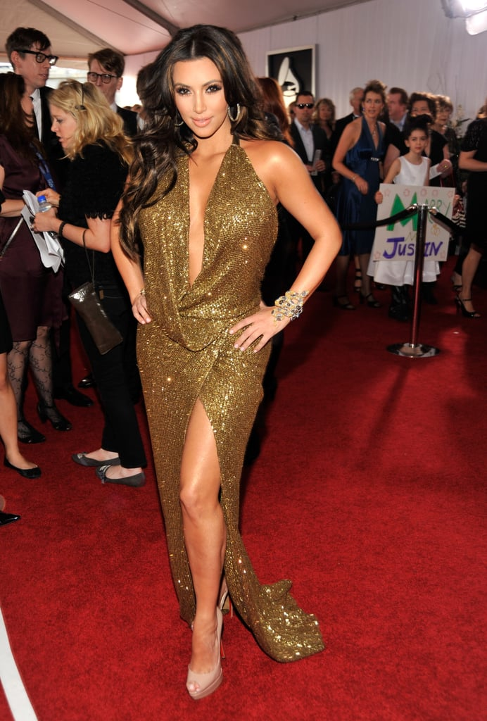 Pictures of Kim Kardashian on the Red Carpet at the 2011 Grammy Awards