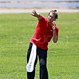 Tom Brady Drops Off Jack and Hits the Field For Practice During the Lockout