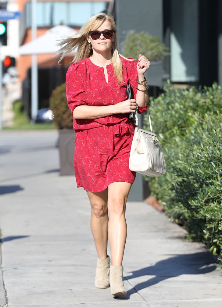 Reese Witherspoon headed to a lunch meeting.
