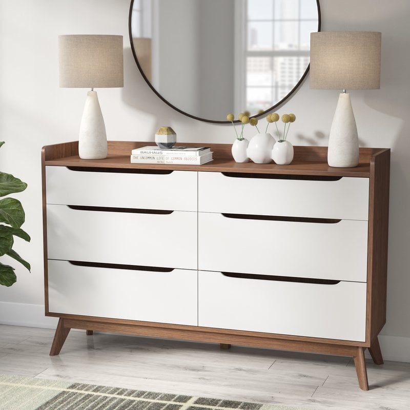 Cravens Six-Drawer Double Dresser