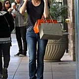 Diane Kruger stepped out in jeans and a black t-shirt for a shopping trip in LA.