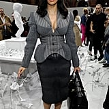 Cardi B at the Thom Browne Paris Fashion Week Show