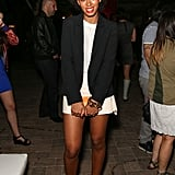 Solange Knowles posed at the Diesel + Edun bash.