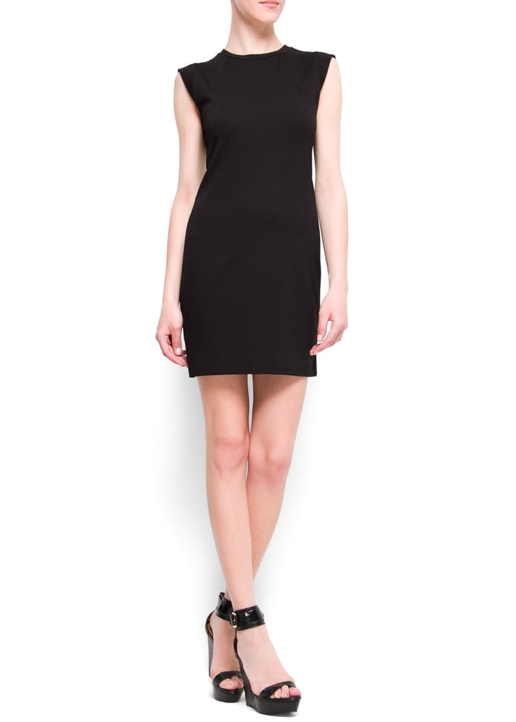 "The high neckline of this LBD tempers the ""mini"" length and is the perfect piece for a work event.  Mango Slim-Fit Dress With Zip ($55)"