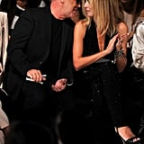 Michael Kors and Heidi Klum front row at the Project Runway fashion show.