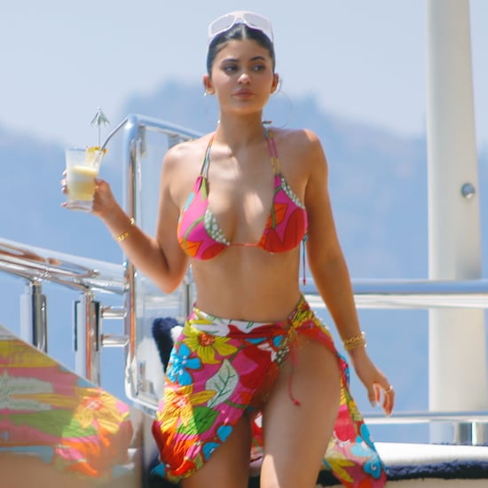 Kylie Jenner Pink Bikini on Her Birthday Yacht in Italy 2019