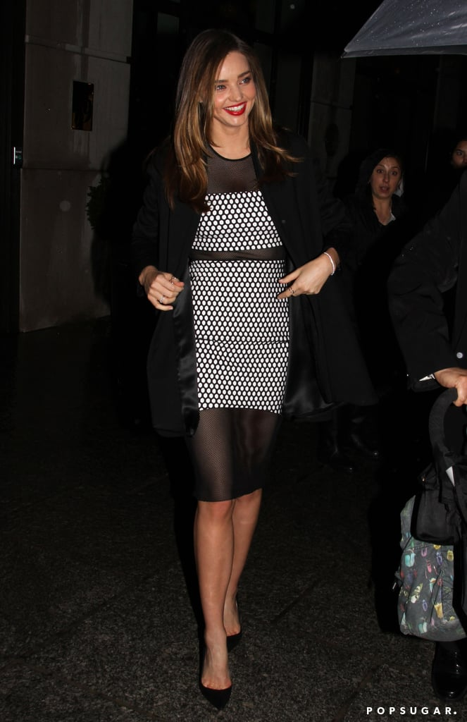On Tuesday, Miranda Kerr had a night out in NYC.
