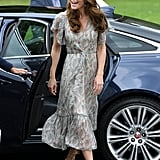 Kate Middleton's Ridley London Dress at Warren Park Children's Centre, June 2019