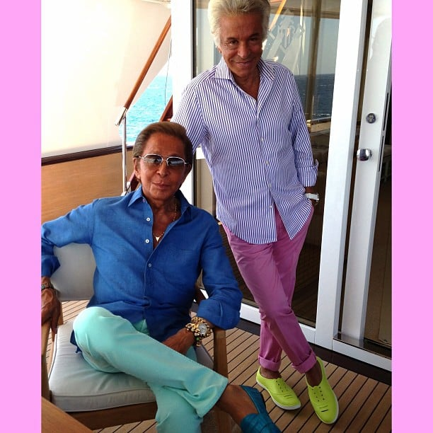 Giancarlo Giammetti and Valentino Garavani truly have the life! Source: Instagram user privategg