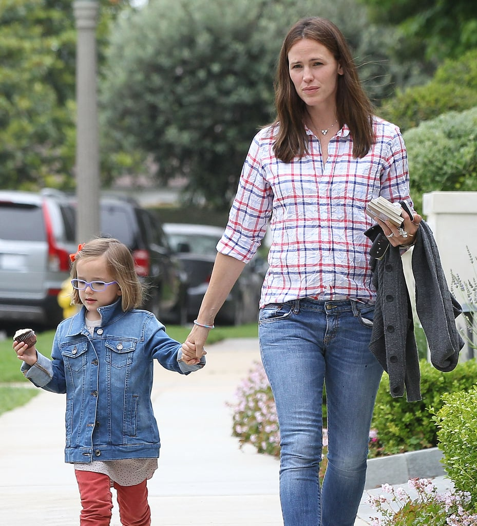 Jennifer Garner and her daughter Seraphina picked up a cupcake in LA on Friday.