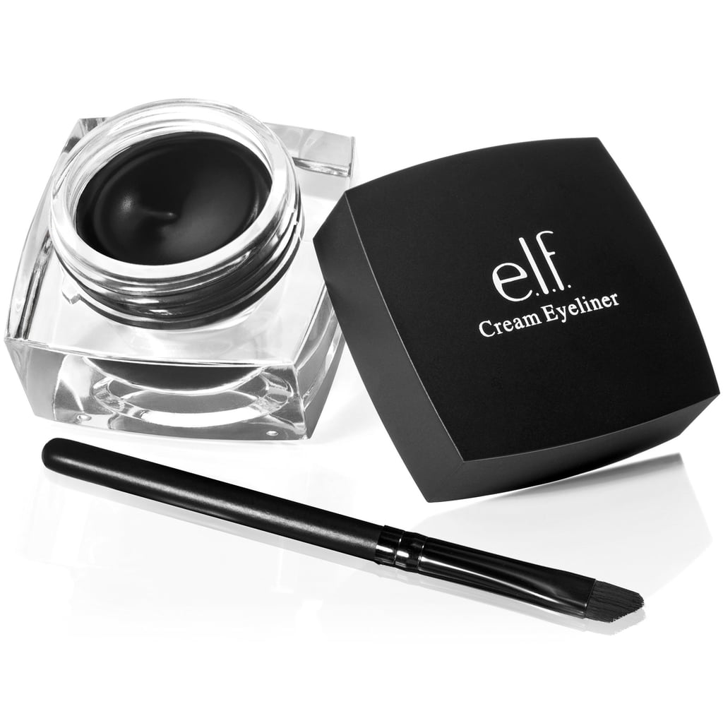 e.l.f. Studio Cream Eyeliner ($3) EWG Rating: 1 This inky black eyeliner does the trick when you want a clean cat eye.