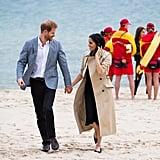 Meghan Markle Black Club Monaco Dress on the Beach 2018