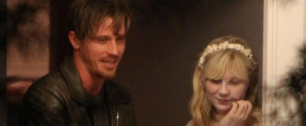 Kirsten Dunst and Garrett Hedlund Handing Out Candy