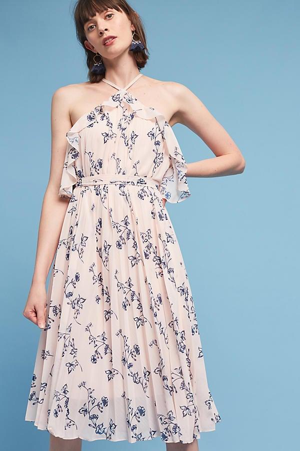 Shoshanna Aisha Halter Dress