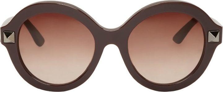 Valentino Plum Round Sunglasses ($325)