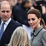 Prince William and Kate Middleton in Leicester November 2019