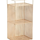 Double Tier Metal Cutout Shelf Storage