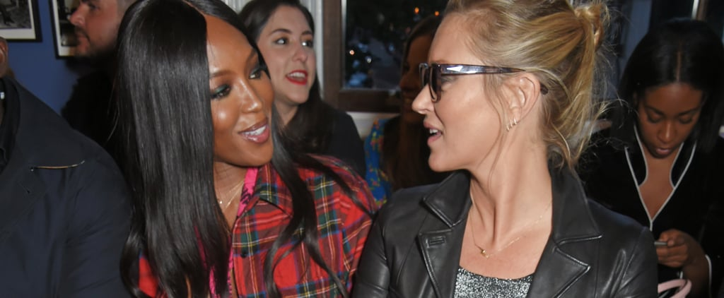 Fashion Royalty Kate Moss and Naomi Campbell Reunite at London Fashion Week