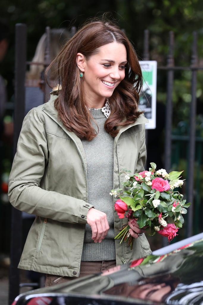 Kate Middleton is back from maternity leave with a fresh haircut. On Oct. 2, the Duchess of Cambridge made her first official appearance following the birth of Prince Louis just over five months ago. While visiting the Sayers Croft Forest School and Wildlife Garden in London, Middleton debuted a slightly shorter haircut with lots of layers. One of the last times Middleton was spotted out was at Wimbledon in July. At the time, her hair was longer and fuller at the bottom, contrasting her new lightened-up look, which is fitting for a busy mom of three little ones. Middleton has become quite known for her voluminous mane, and the world was stunned when she was appeared with impeccable hair mere hours after giving birth. The life of a royal, eh?      Related:                                                                                                           Kate Middleton's 50 Best Hairstyles Over the Years