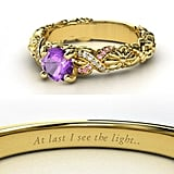 Amethyst Rapunzel Engagement Ring ($1,090)