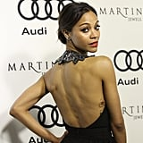 In 2012, a skimpy dress revealed Zoe has even more stars on the side of her body.