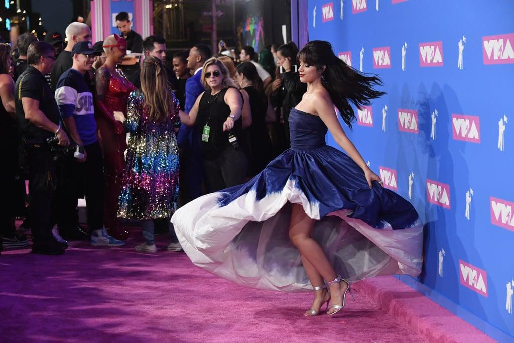 Camila Cabello Blue Oscar De La Renta Dress Vmas 2018
