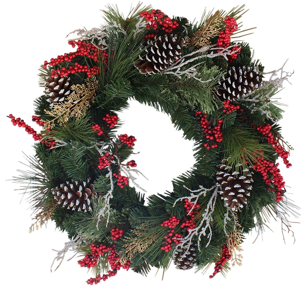 24 Inch Wreath Depot Somerset Winter Red Berry Wreath Best Holiday