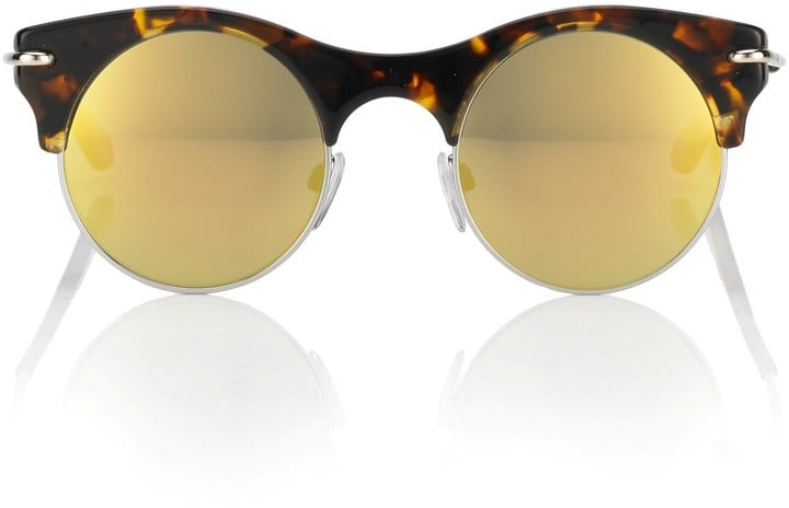 Roland Mouret Eyewear Jelly Tort Mirror Max Sunglasses ($390)