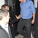 Prince Harry leaving The Brompton Club in London.