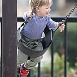 Jennifer Garner Helps Samuel Get His Swing On