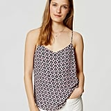 "The Tank: Loft Tiled Strappy Cami ($45) The Glowing Review: ""This top was a last minute call and I'm so happy I decided to add it to my cart. It looks exactly like the photo, fabric is very light, comfortable, and flattering."""