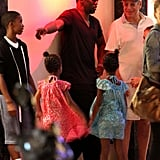 Diddy hung out in St. Barts with his kids.