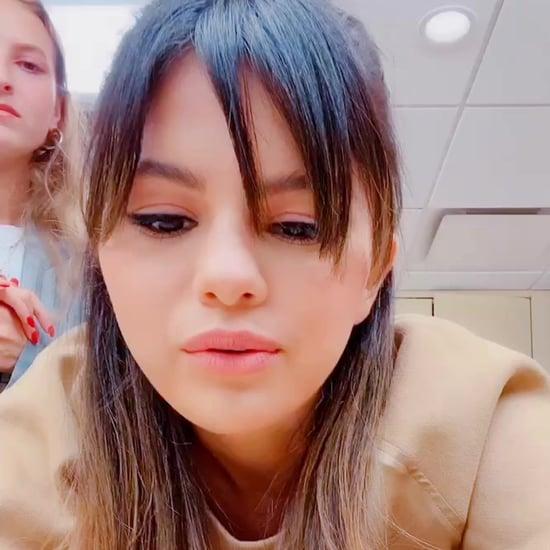 Selena Gomez Wearing Her Rare Long Sleeve T-Shirt on TikTok