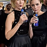 Pictured: Sarah Paulson and Amanda Peet