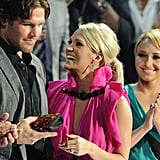 Carrie shared her excitement with Mike at the 2010 CMT Music Awards in Nashville.