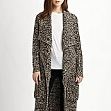 Pair Line's Wise Owl sweater coat ($295) with a pencil skirt and crisp white blouse for a day at the office.