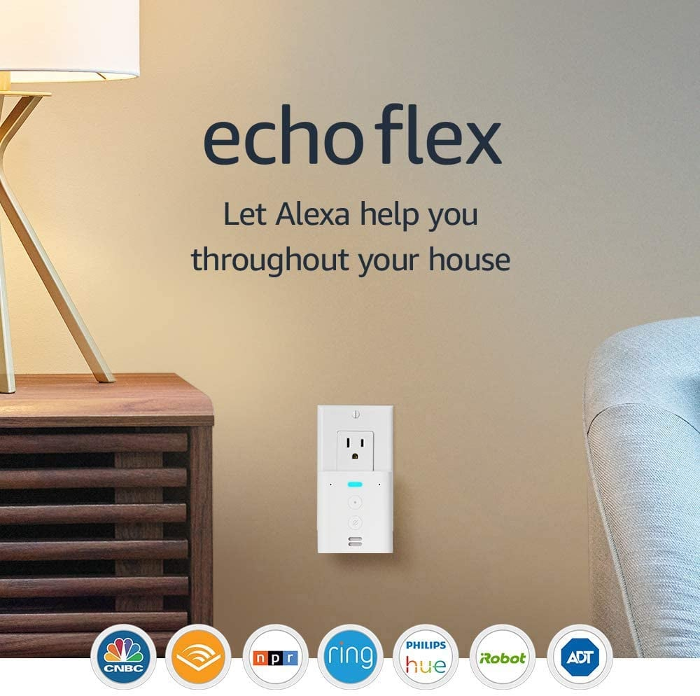 Echo Flex Plug-In Mini Smart Speaker With Alexa