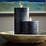 Premium Flicker Flameless Rustic Wax Pillar Candle