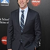 B.J. Novak showed up in stripes too.