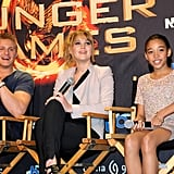 In addition to signing autographs, Jennifer Lawrence, Alexander Ludwig, and Amandla Stenberg fielded questions from fans.