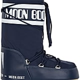 Moon Boot Piqué-shell and faux leather snow boots ($115)