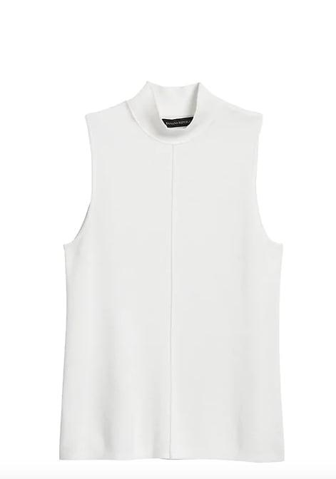 Mock-Neck Sweater Top