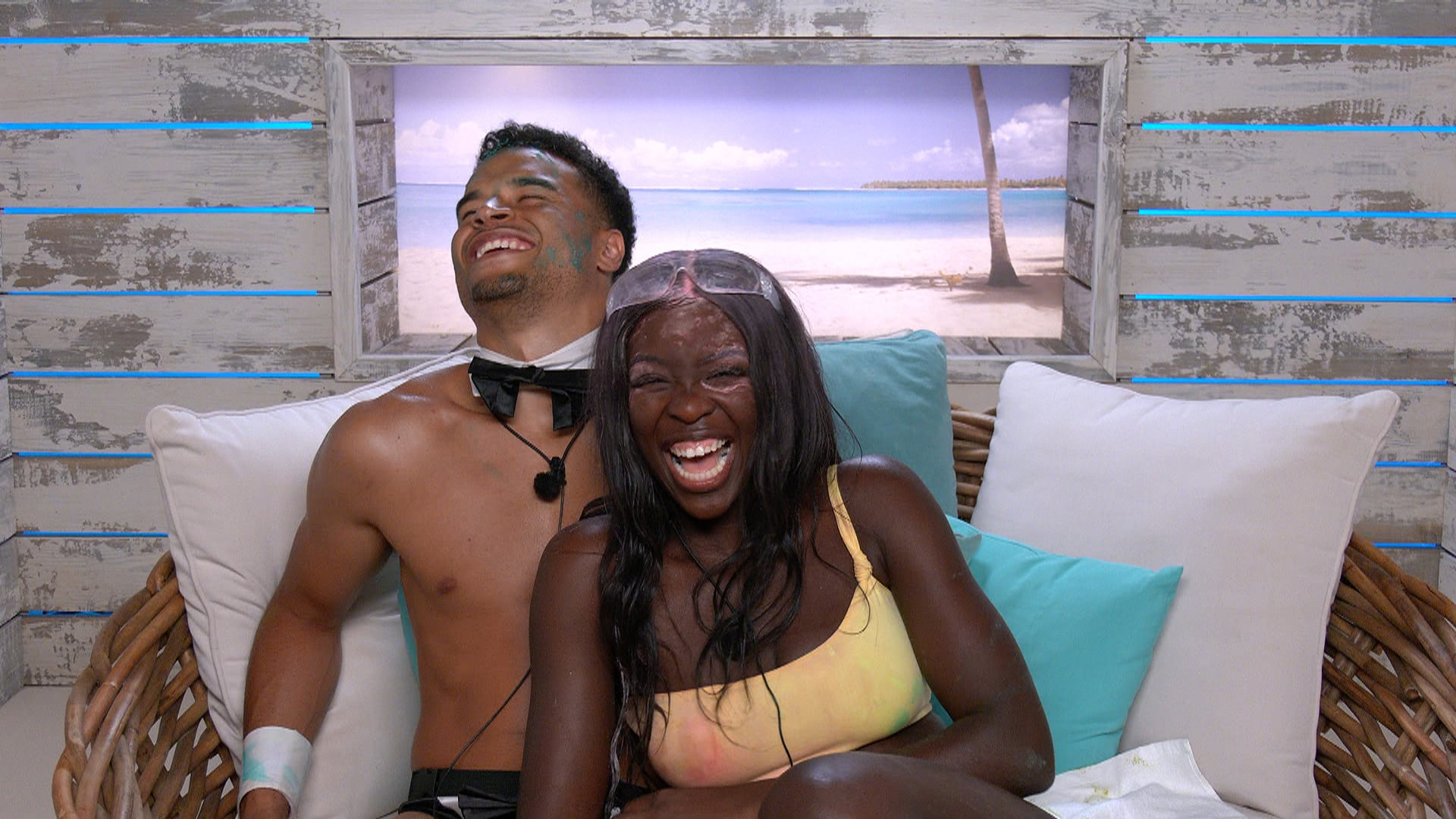 From Lifted EntertainmentLove Island: SR7: Ep6 on ITV2 and ITV Hub new episodes are available the following morning on BritBoxPictured: Toby and Kaz.This photograph is (C) ITV Plc and can only be reproduced for editorial purposes directly in connection with the programme or event mentioned above, or ITV plc. Once made available by ITV plc Picture Desk, this photograph can be reproduced once only up until the transmission [TX] date and no reproduction fee will be charged. Any subsequent usage may incur a fee. This photograph must not be manipulated [excluding basic cropping] in a manner which alters the visual appearance of the person photographed deemed detrimental or inappropriate by ITV plc Picture Desk.  This photograph must not be syndicated to any other company, publication or website, or permanently archived, without the express written permission of ITV Picture Desk. Full Terms and conditions are available on the website www.itv.com/presscentre/itvpictures/termsFor further information please contact:james.hilder@itv.com / 0207 157 3052