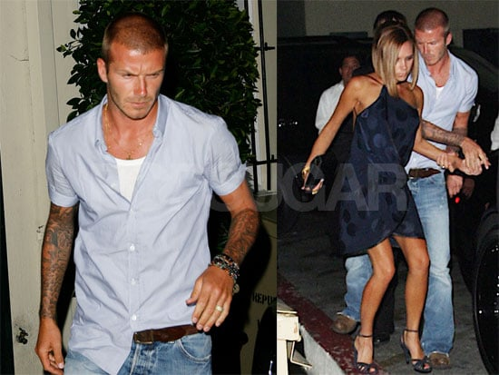 Photos of David Beckham and Victoria Beckham Leaving Il Sole