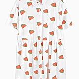 Choies Watermelon Pattern Shirt Dress