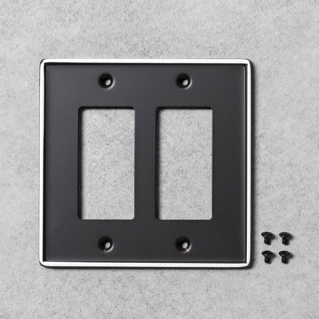 Metal Painted Enamel Toggle Switch Plate