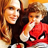 Molly Sims and Brooks Stuber enjoyed some strawberries together. Source: Instagram user mollybsims