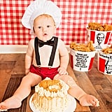 Have You Seen This KFC-Inspired Cake Smash? Because It's Finger-Lickin' Adorable